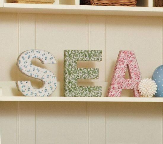 Интерьерные буквы: фото