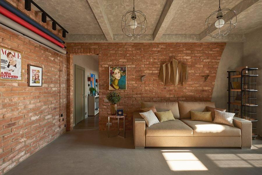 Интерьер в стиле лофт: 3 бюджетных варианта отделки стен