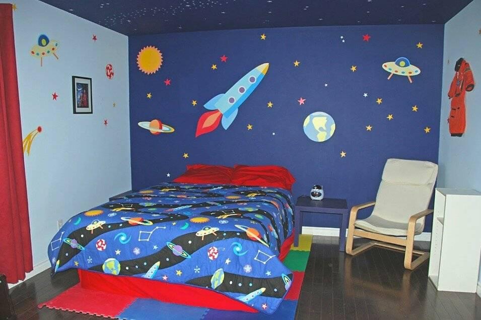 Обои космос в оформлении разных комнат