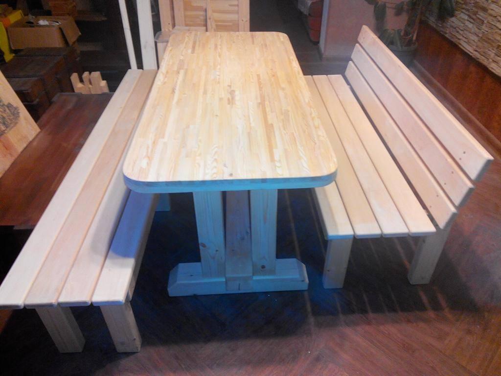 Столы из дерева для бани (16 фото): деревянные складные столики со стульями из массива сосны
