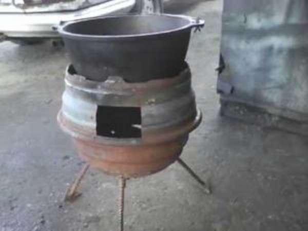 Знакомство с восточной кухней – просто, быстро и в любых условиях: печка для казана из трубы своими руками