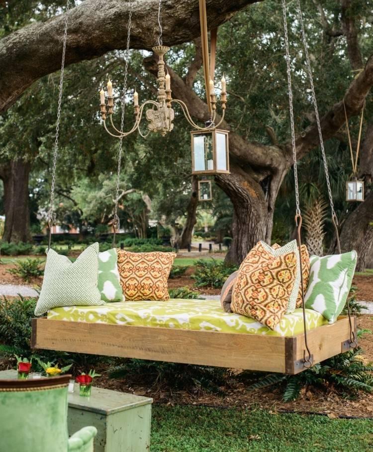 Деревянные садовые качели своими руками: пошаговая инструкция, чертежи и фото