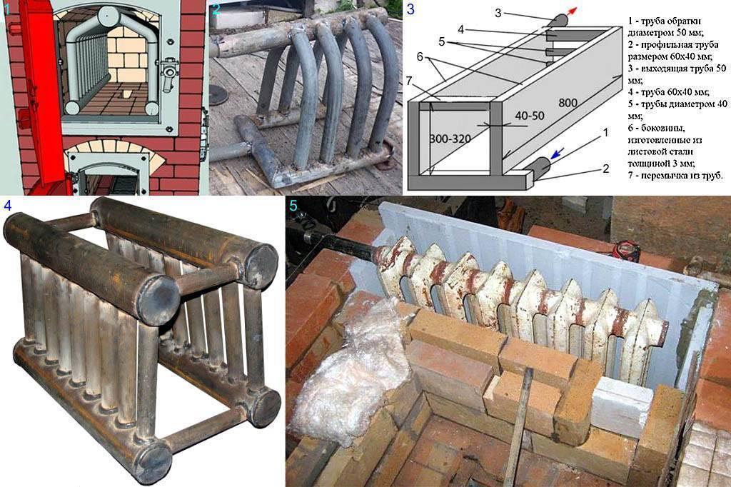 Печное отопление с водяным контуром: схема и монтаж своими руками