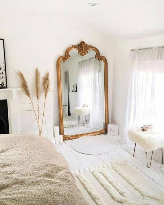 Зеркало в спальне - 105 фото примеров установки и инструкция по оформлению