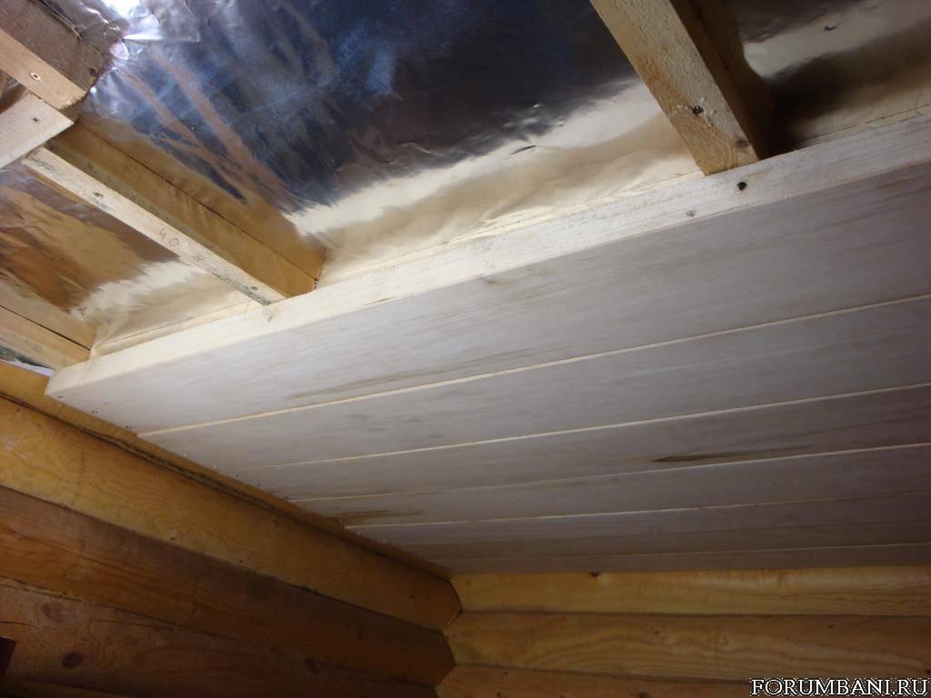 Потолок для бани своими руками - варианты устройства