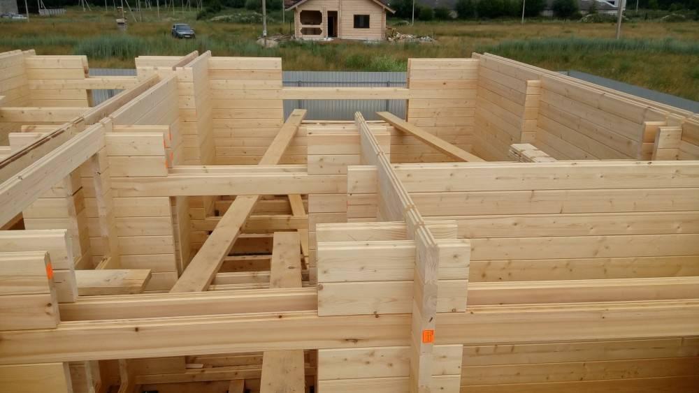 Обзор технологии строительства дома из двойного бруса