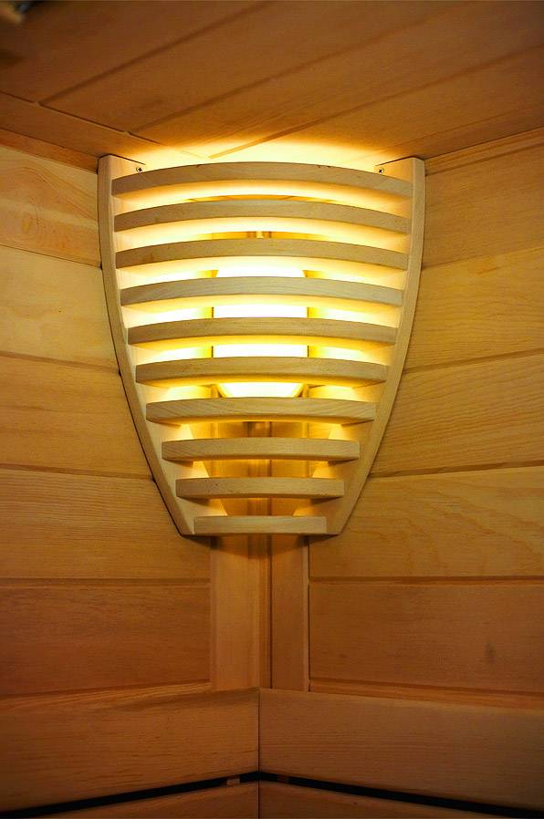 Освещение в бане и фото светильников для парилки, монтаж освещения в бане своими руками