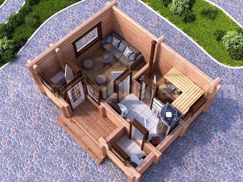 Баня с верандой под одной крышей: примеры проектов
