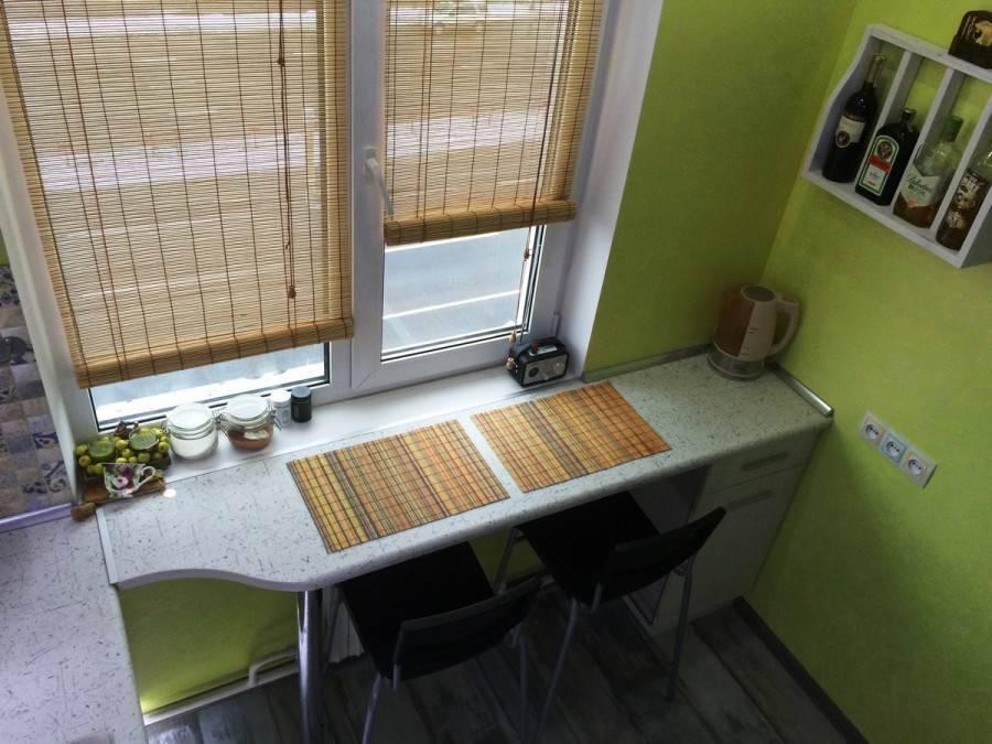 12 советов по обустройству подоконника-столешницы на кухне
