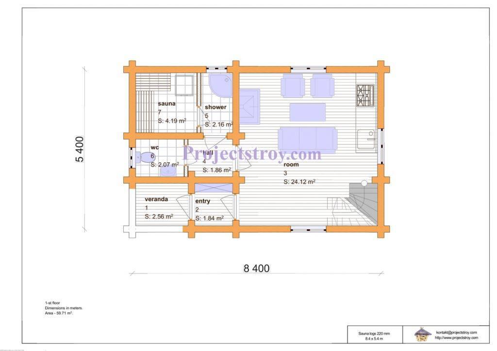 Проекты двухэтажных бань: особенности конструкций