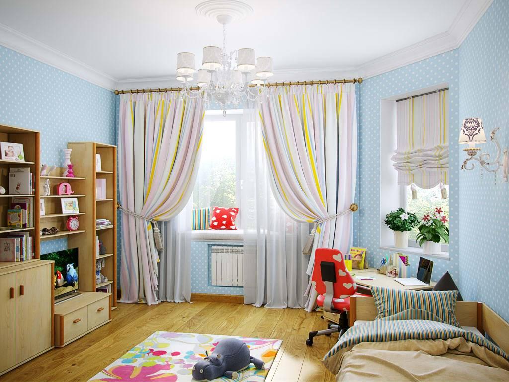 Римские шторы в детскую комнату - 63 фото для мальчика и девочки, подростка