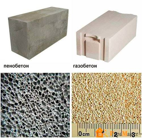 Пенобетон и газобетон: в чем разница и как отличить блоки