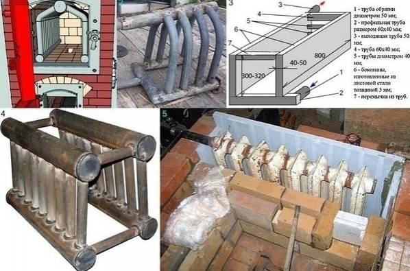 Отопительно-варочная печь с котлом водяного отопления: изготовление своими руками