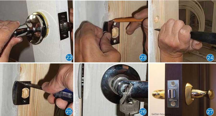 Как врезать замок в межкомнатную дверь правильно своими руками