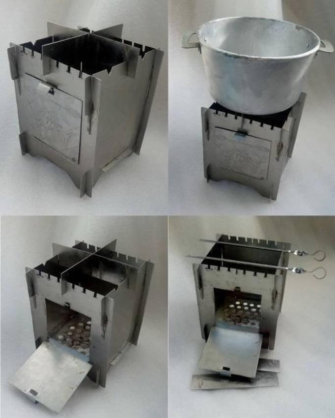 Печки-щепочницы: походные складные под армейский котелок, титановые турбопечки, пиролизные и другие, а также цены печей российского и зарубежного производства