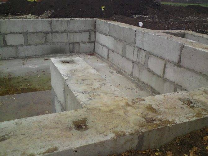 Фундамент из блоков фбс: плюсы и минусы, отзывы строителей