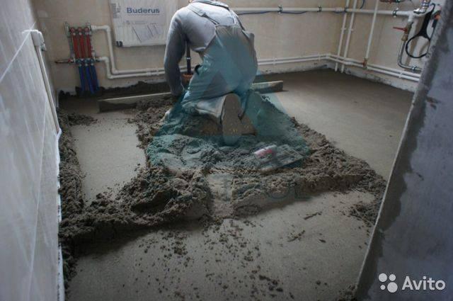 Как заделать трещины в цементно-песчаной стяжке и почему она трескается   советы хозяевам.рф