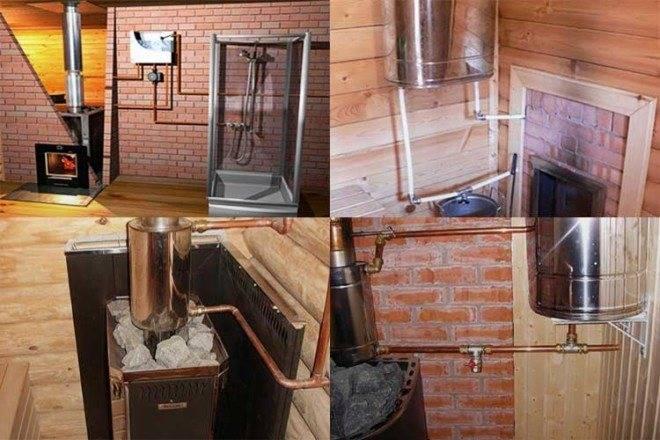 Отопление в бане — обзор «непечных» способов отапливаться зимой