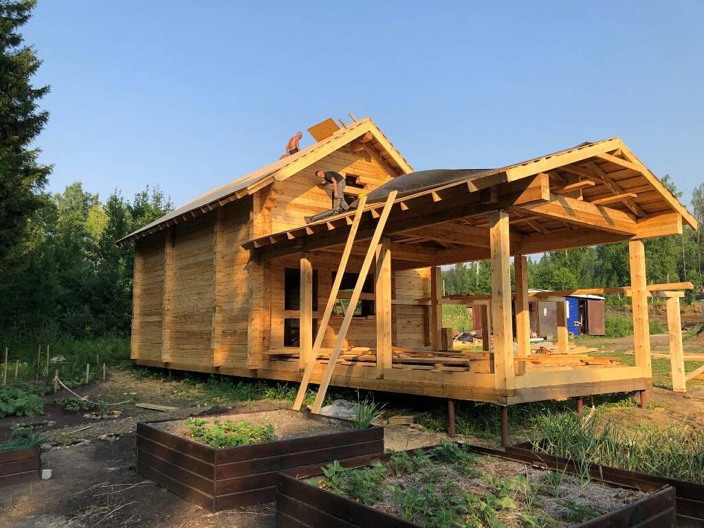 Как построить дом-баню из бруса: базовая технология строительства