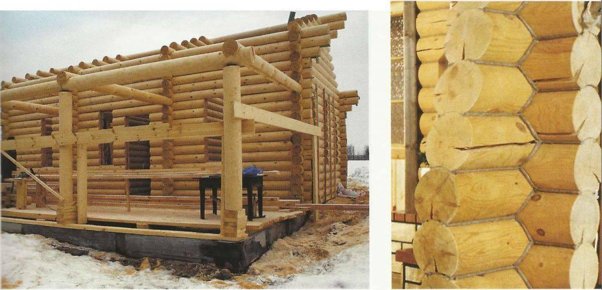 Усадка дома из оцилиндрованного бревна. общие принципы строительства, фото. проблемы усадки деревянных домов.