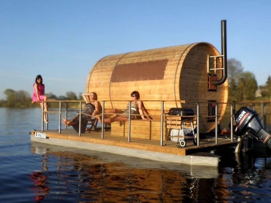 Баня на воде – эксклюзивная конструкция, развеивающая стереотипность!