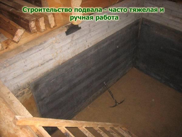 Строительство бани в цокольном этаже дома