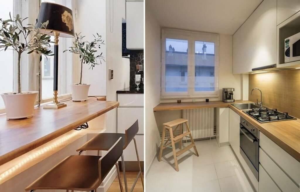 Подоконник столешница на кухне: установка столешницы вместо подоконника