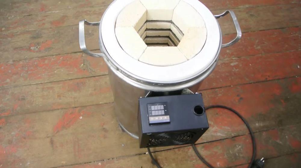 Самодельная муфельная печь своими руками: сборка, чертеж, фото, видео инструкция