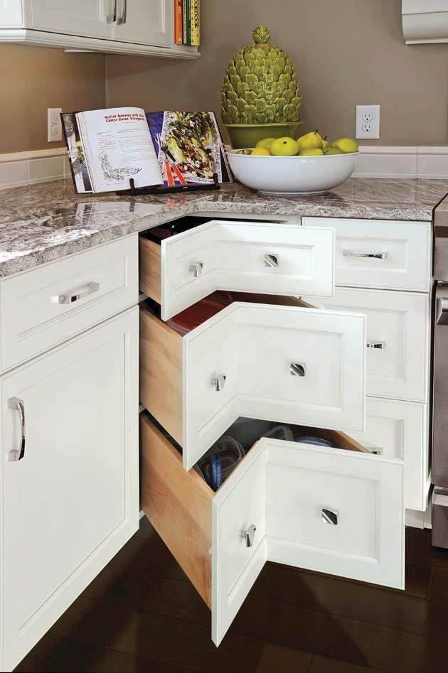 Идеи обустройства угла кухонного гарнитура
