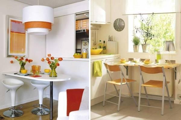 30 решений для обеденной зоны на маленькой кухне