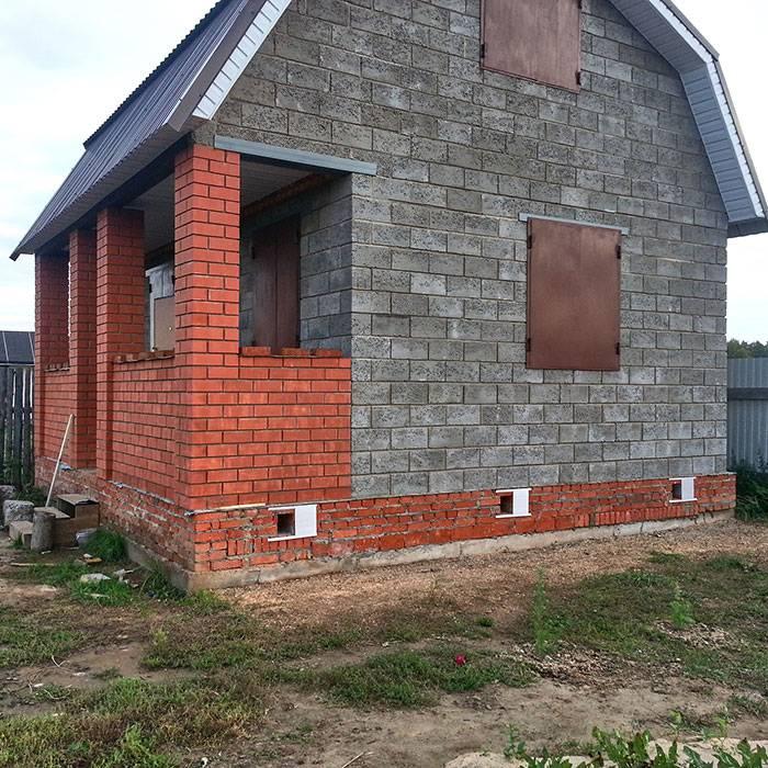 Баня из керамзитобетонных блоков: проекты, дверные приемы и их размеры