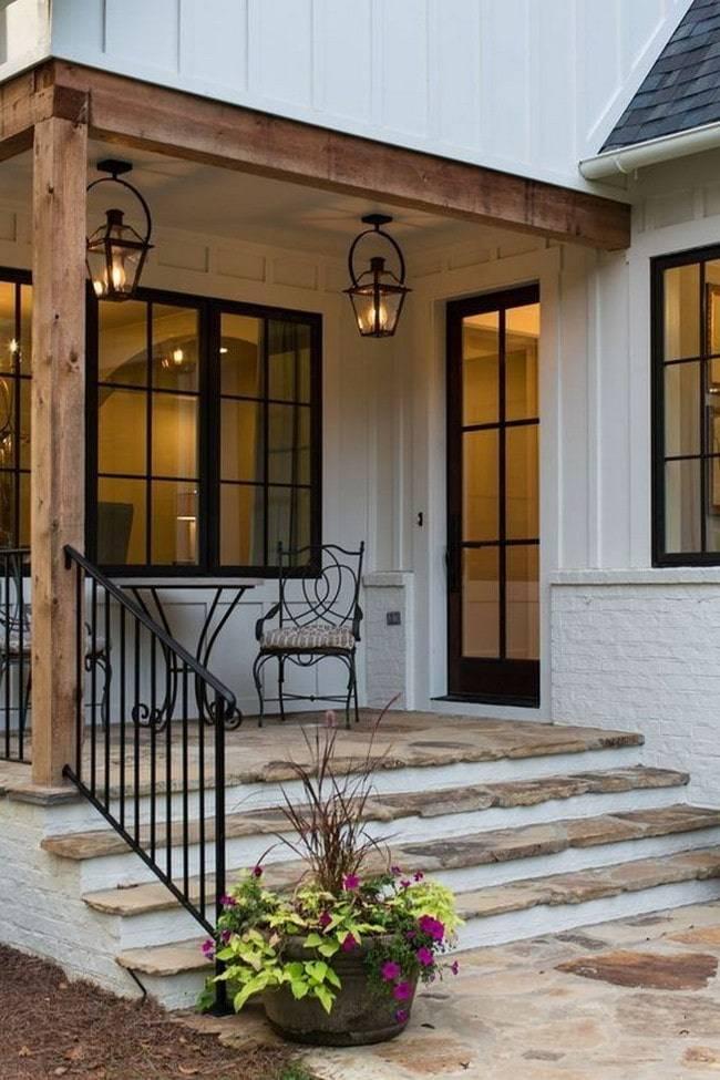 Дизайн-оформление крыльца частного дома: разбор стилистики + подборка идей