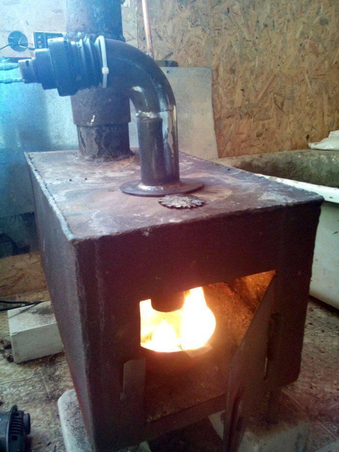 Печка в гараж своими руками: самодельное дизельное или масляное устройство на отработке, печь из трубы на дровах