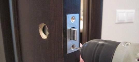 Как врезать замок в межкомнатную дверь: порядок действий