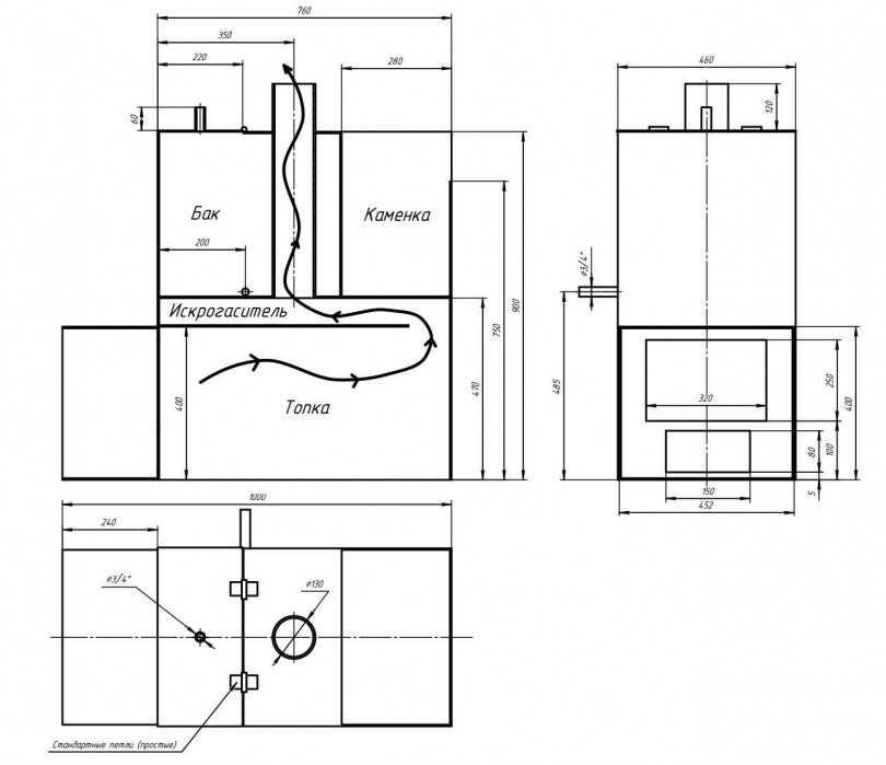 Печь для бани из трубы (92 фото): чертежи и изготовление своими руками, самодельные горизонтальные варианты из 530 трубы, схема и размеры — remont-om