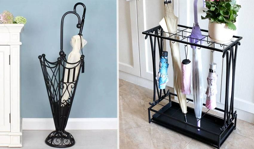 Подставки для зонтов в прихожую: варианты хранения аксессуаров в зонтницах, вазах, корзинах, держатель для зонтиков