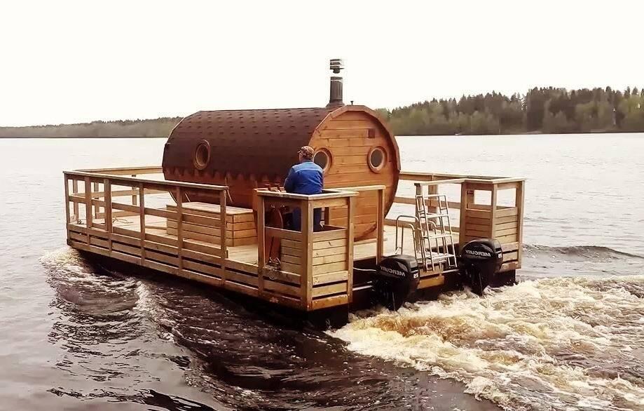 Плавучая баня – ключевые особенности возведения. бизнес идеи — плавучий дом и баня на воде.