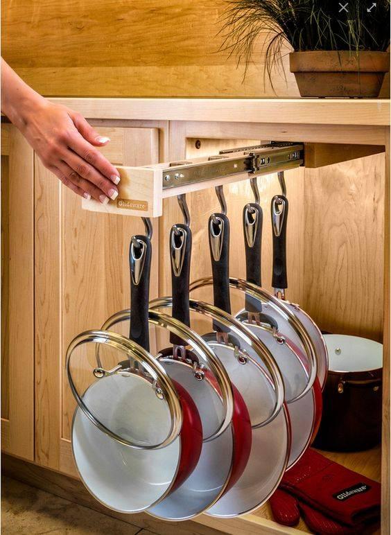 Наполнение кухонных шкафов: системы хранения на кухне   виды