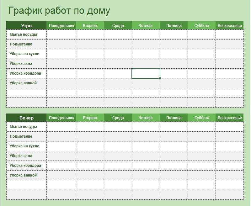 Как составить сменный и скользящий график работы на месяц и на неделю - скачать образец
