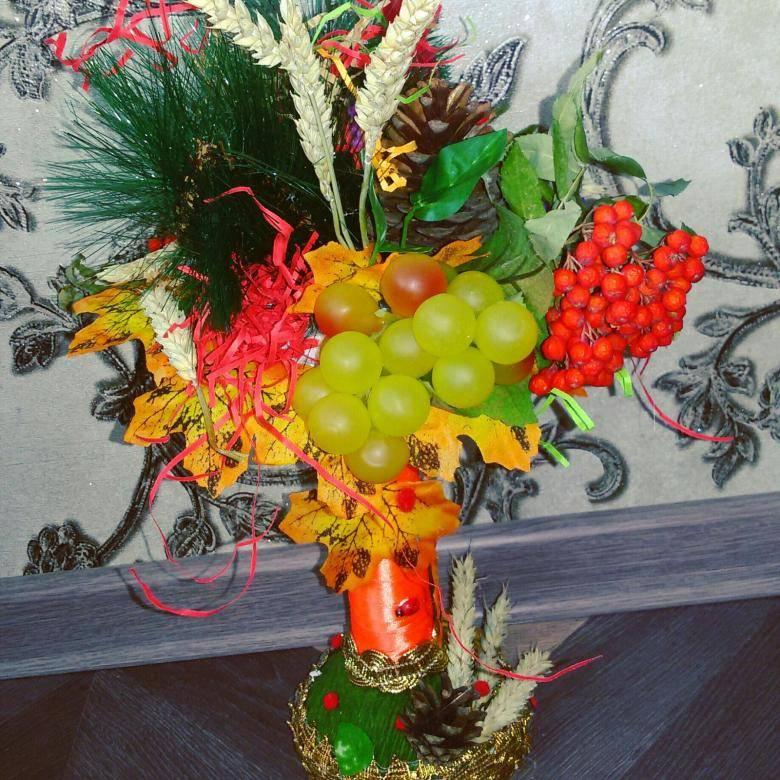 Осенний букет. композиции своими руками из листьев, природного материала - фотоотчёты.