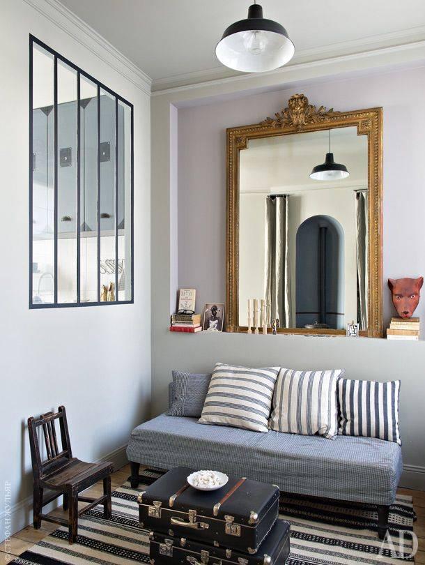 Маленькая парижская студия 22 кв м с мезонином: фото дизайн-проекта | houzz россия
