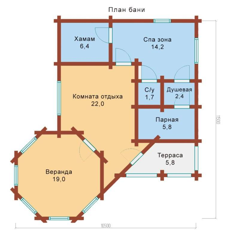 Проект бани с террасой и барбекю ,с комнатой отдыха: фото проект бани с террасой и барбекю ,с комнатой отдыха: фото