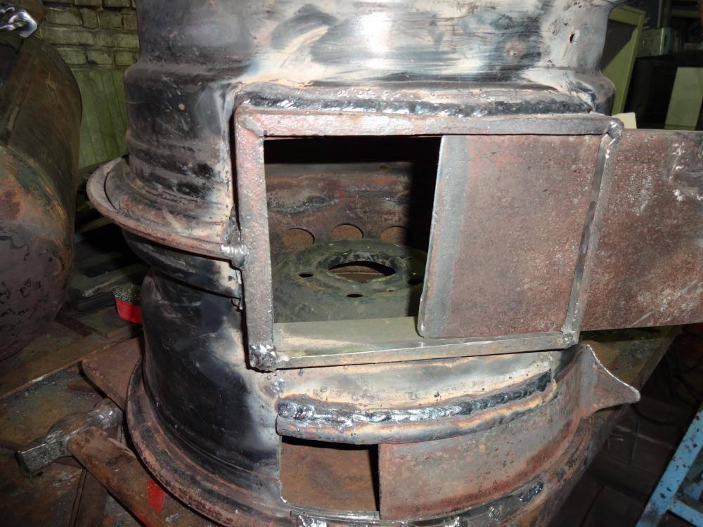 Печь для бани из дисков грузового автомобиля своими руками