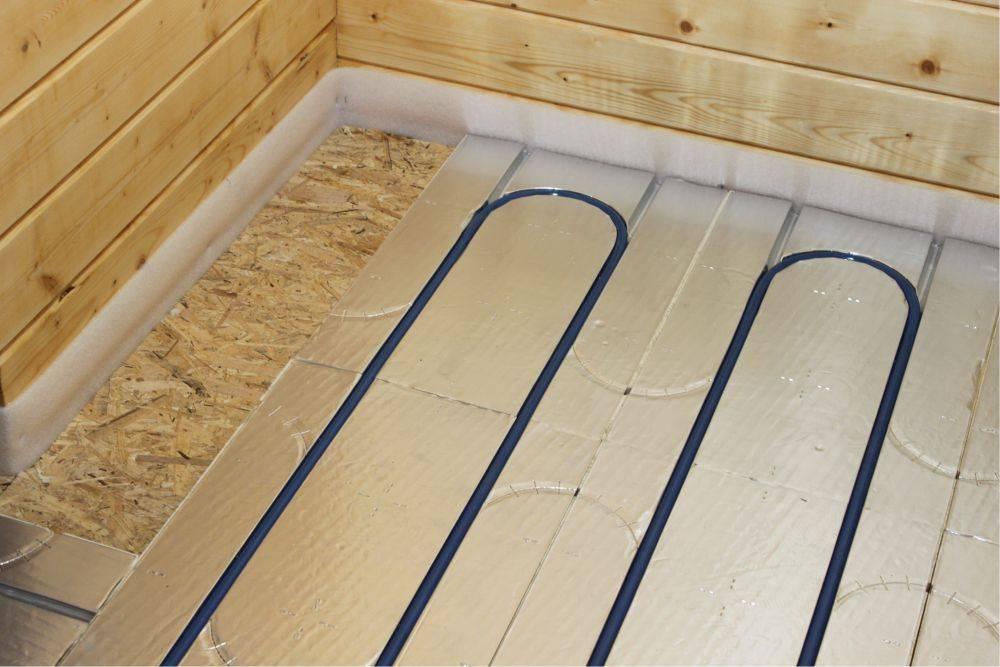 Как сделать тёплый водяной пол на деревянном полу