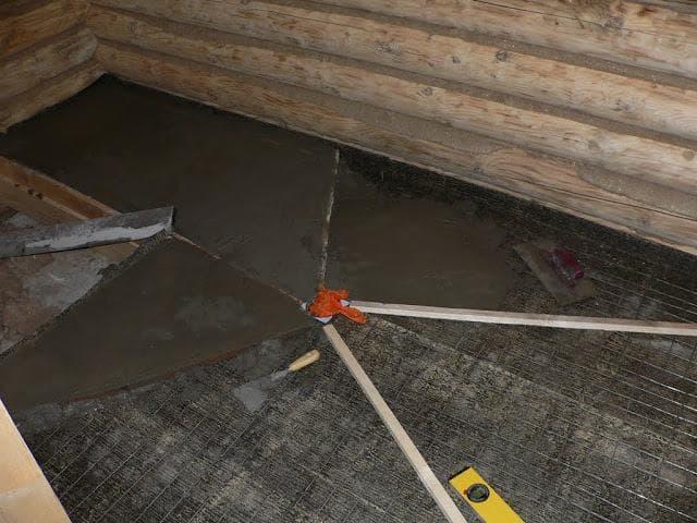 Устройство слива воды через пол в бане