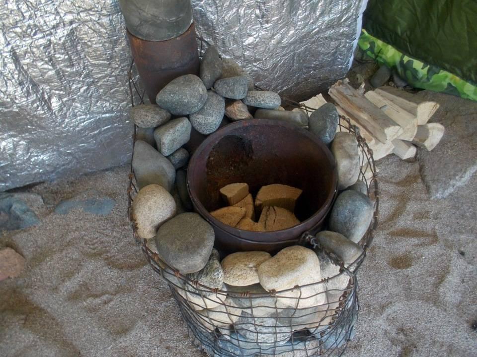 Печь для походной бани своими руками + чертежи
