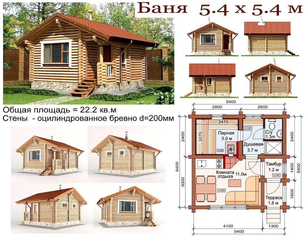 Баня из бруса:: проекты, подготовка, материал, этапы строительства