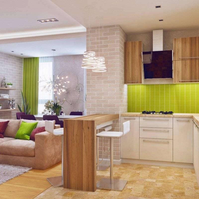 Дизайн кухни-гостиной. особенности, фото идеи, советы дизайнеров, плюсы и минусы