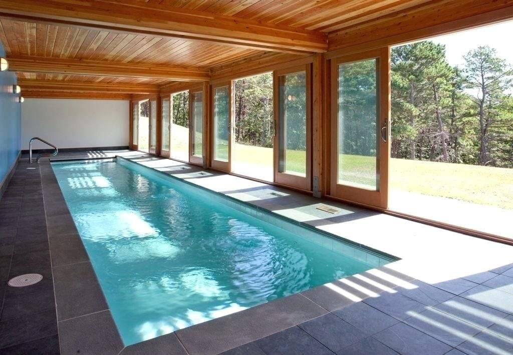 Проект бани из пеноблока с бассейном: выбор места строительства