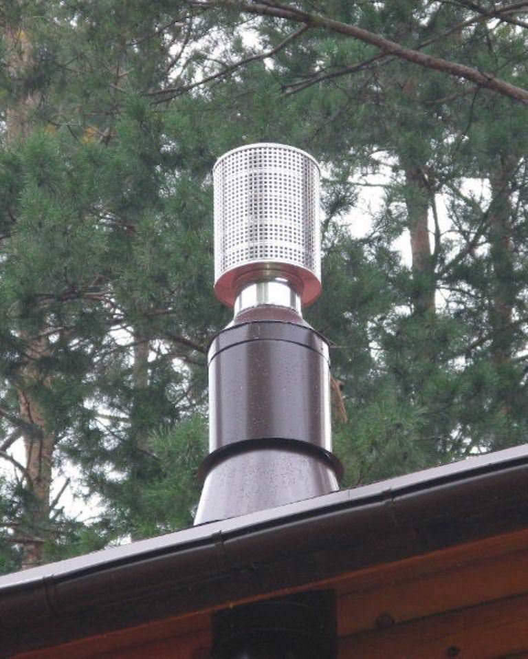 Зачем нужен искрогаситель на дымоход для бани и опасно ли его отсутствие?